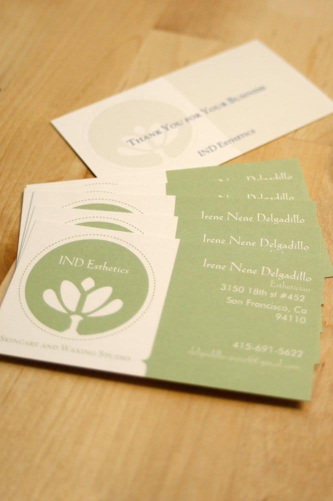 Ind Esthetics Business Cards