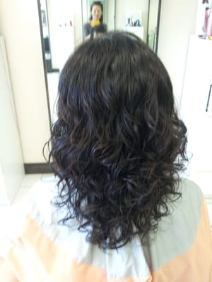 digital perm for medium length hair (tight curls) | Yelp