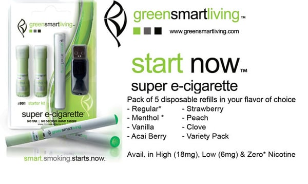 20% Off Now $ Acai Berry E-Cigarette Refill For A Limited Time At GreenSmartLiving. Was priced at $ 5-Pack (Low Nicotine Strength) GreenSmartLiving brand E Cigs are a smoke-free alternative for individuals unwilling to compromise on taste and quality.