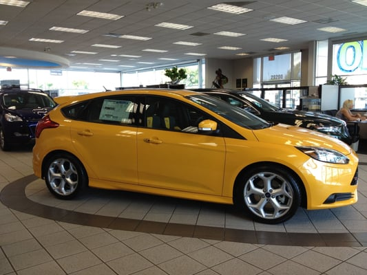 2013 Ford Focus St In Tangerine Scream On Our Showroom