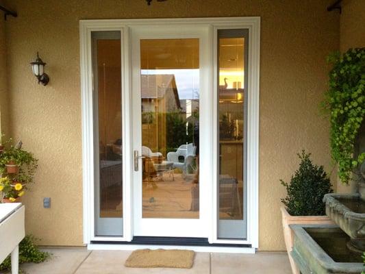 Milgard ultra french door with operable sidelights yelp for Patio french doors with sidelights