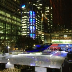 Ice Rink Canary Wharf, London