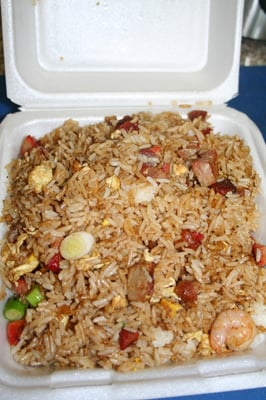 Tong Kee Special Fried Rice...chinese sausage, shrimp and bbq pork ...