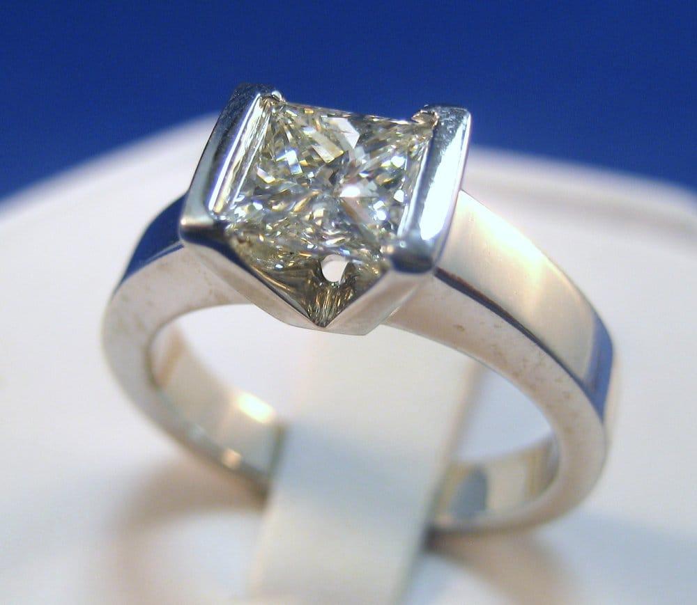 Modern Princess Cut Diamond Engagement Ring