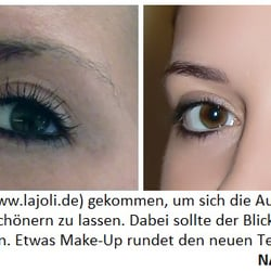 LAJOLI Permanent Make Up Bilder - Augenbrauen