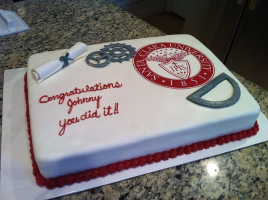 Graduation Cake For Masters In Mechanical Engineering Yelp