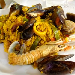 Just a small portion of the seafood paella (fruits mer).