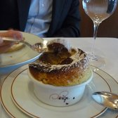 9 of 9: Soufflé with pistachio with dark chocolate sauce