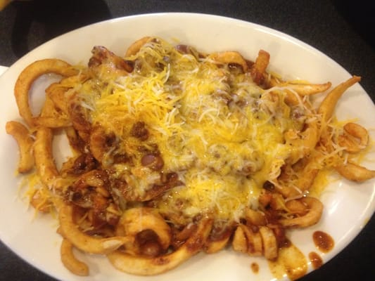 chilli cheese curly fries
