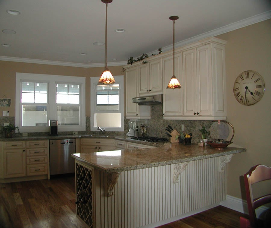 Medallion Cabinets Off White With Mixed Trim Details Yelp