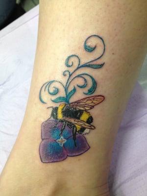 Cake Bee Tattoo