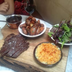 Bavette lunch for two hungry people!