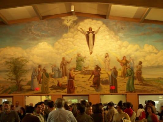 ascension church wall mural detail yelp murals backdrops by folk artist doncochran