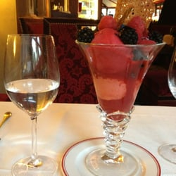 Dessert: berries and mixed berries sorbet (so good!)