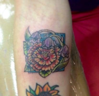 Marigold Tattoo Marigold flower tattoo by