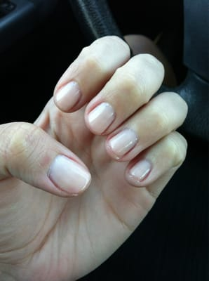 "OPI gel manicure in bubblegum. Too light but a good ""light pink"