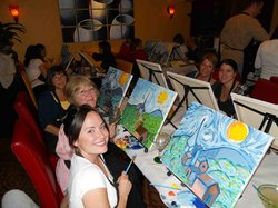 wine and canvas a painting class with a cocktail twist indianapolis