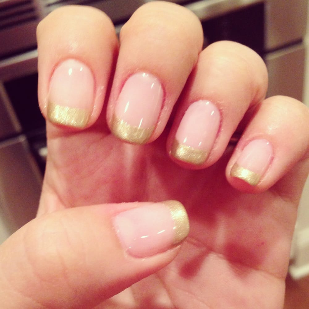 Nail Salons Near Me The Perfect Experience For Los: Pink And Gold No-chip Manicure By Lynne!