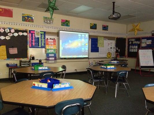 Hitachi Projector With Smart Board In A Kindergarten