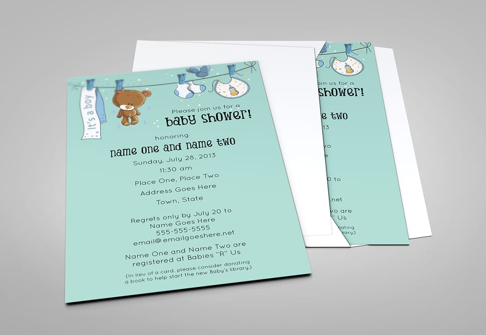 Baby shower card template yelp for Baby shower place cards template
