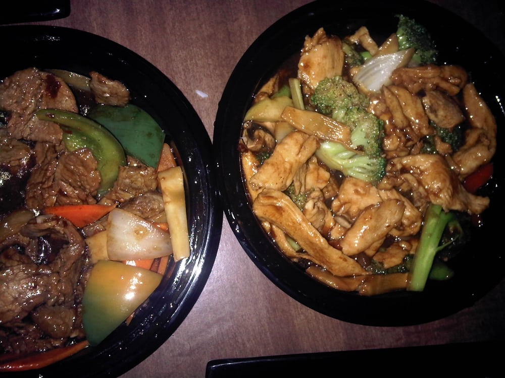 Mongolian Beef and Sizzling Chicken Hunan Style (take out ...