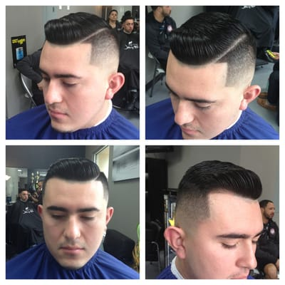 Mid bald fade w b over
