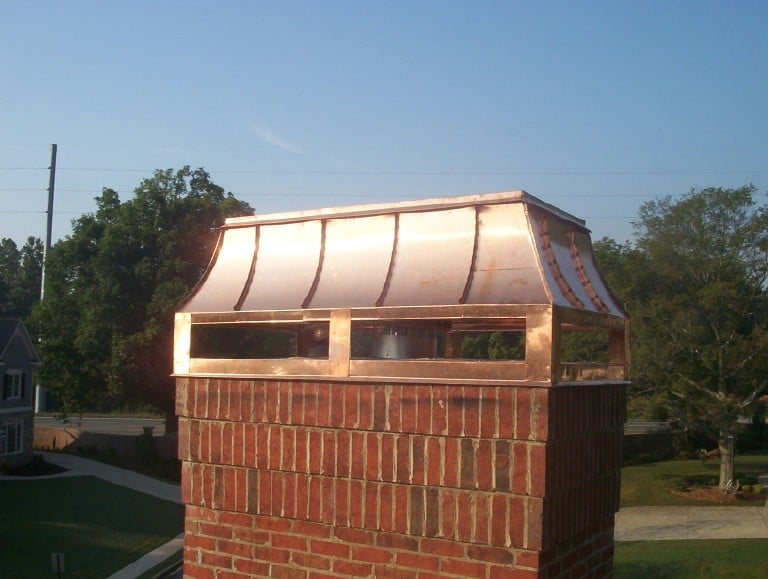 Copper Chimney Cap Custom Decorative Accents Yelp