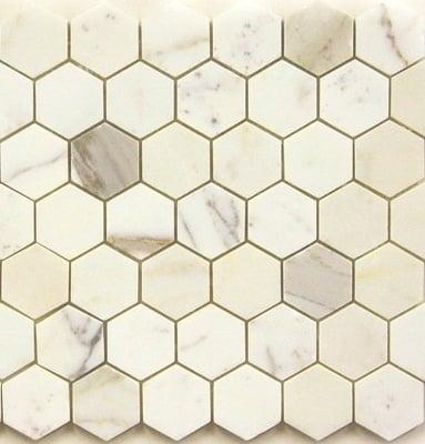 21 95sf Calacatta Gold 2 Quot Hexagon Marble Mosaic Tile Yelp