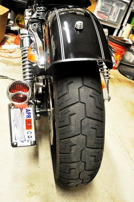05 Sportster After Fender Chop Amp Side Mount 32 Ford Tail