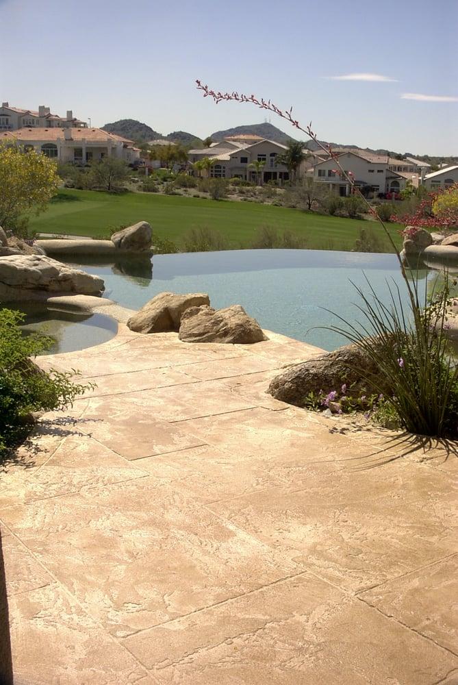 Decorative Concrete Overlay Pool Deck Yelp