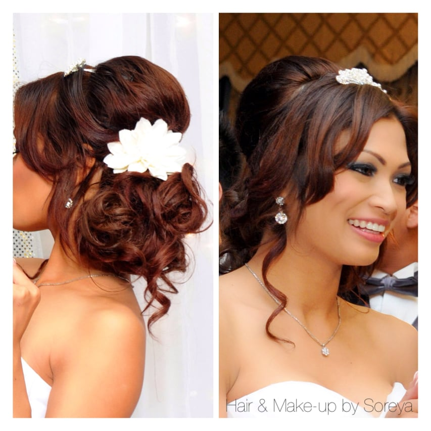 Wedding Hairstyle On The Side: Low Side Updo Bridal Hair