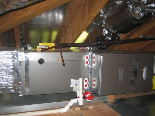 Horizontal Heating A C System In Attic San Bruno Ca Yelp