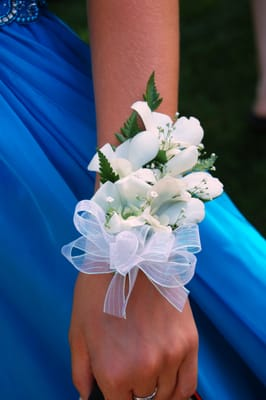 White Orchid Corsage For My Sons Mountain View High School