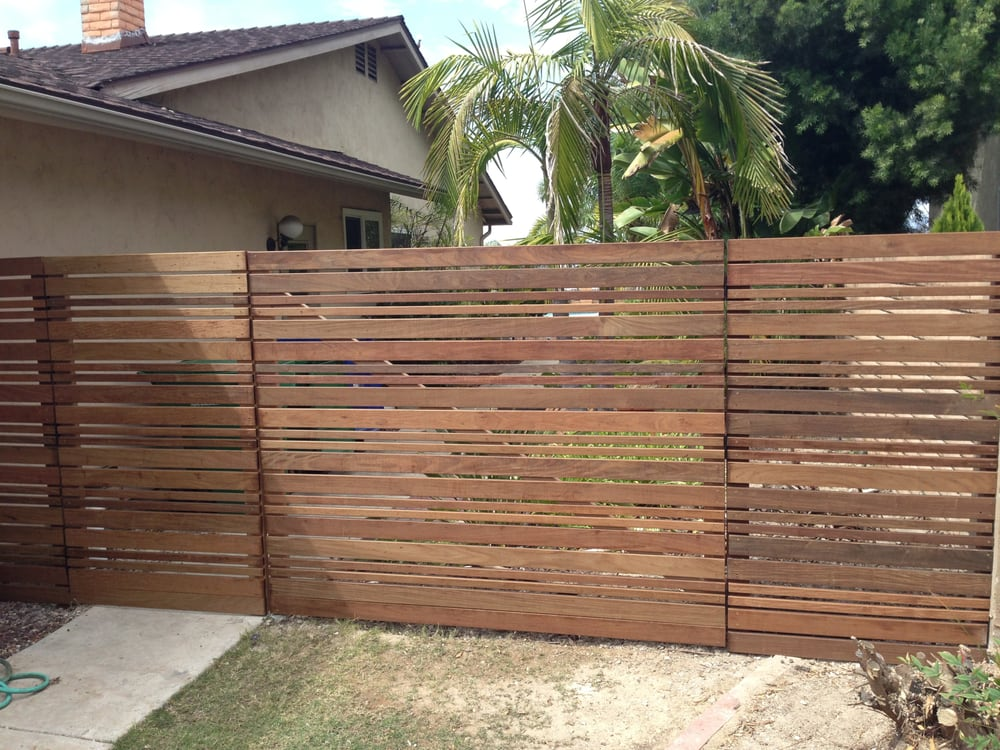 Modern Fence Style Ipy Wood Yelp