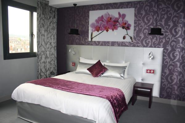 chambre baroque noir et rose - chambre cosy esprit baroque chic