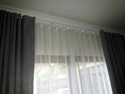 Ripple Fold Curtains Double Track Sheer Blackout Yelp