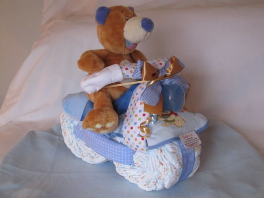 New Baby Boy Diaper Motorcycle With Teddy Bear Riding On Yelp