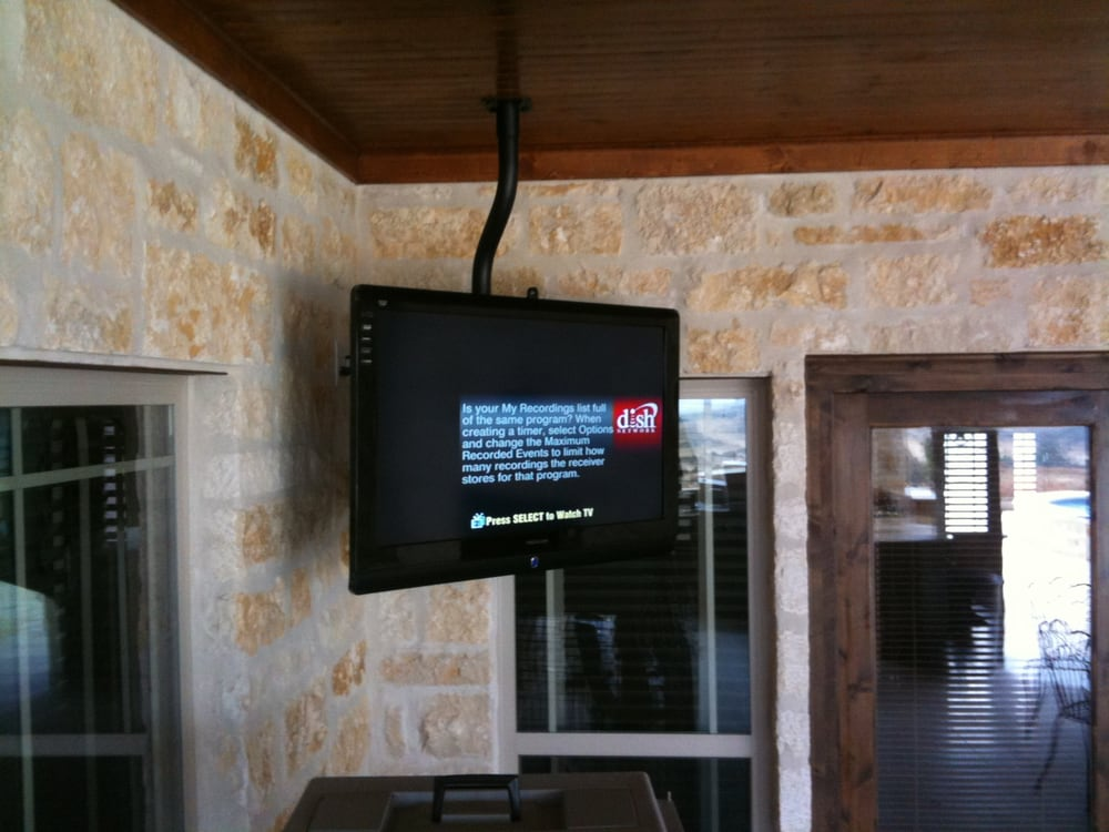Ceiling Mount Flat Screen Tv On Back Porch Yelp
