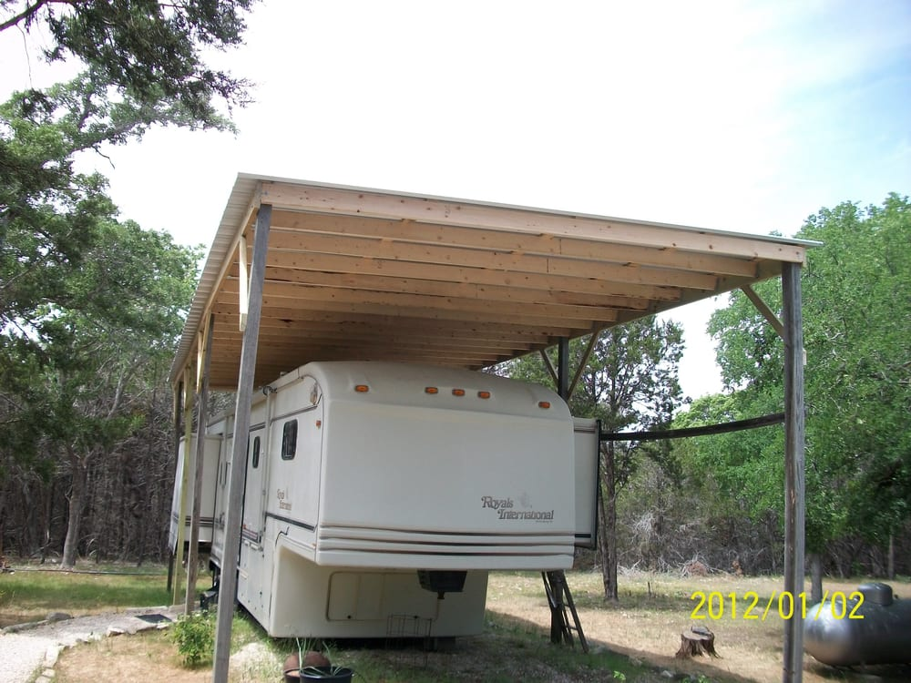 Rv Cover With Quot Pbr Panel Quot Metal Roof Yelp