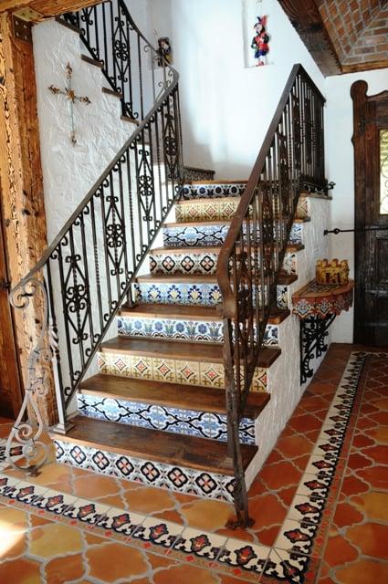 Talavera Tile As Stair Riser Tiles Yelp