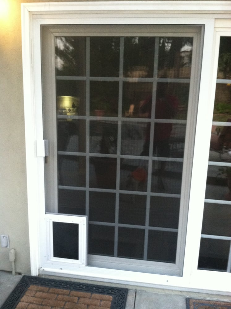 Sliding Screen Door With Dog Doors Yelp