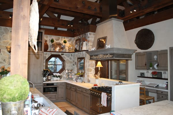 French Country Style Kitchen With Emphasis On The Stone