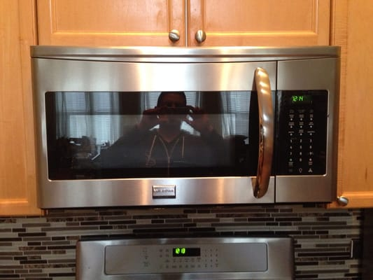 Installed A New Frigidare Over The Range Microwave Good