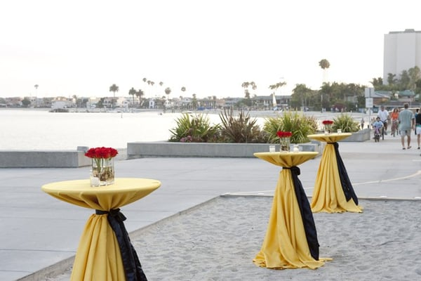 Belly Bar Tables At Our Rehearsal Dinner Zlac Linens And