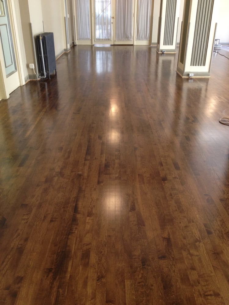 Maple Ballroom Stained Dark Walnut Color With Satin Finish Yelp