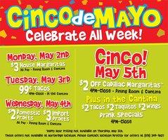 Food And Drink Specials Cinco De Mayo Near Me